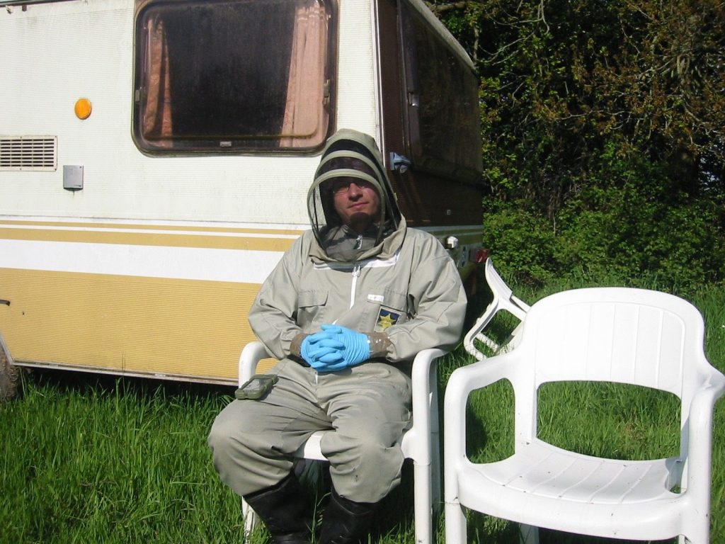 Photo of Daniel, the beekeeper. Bee Removal Dan.